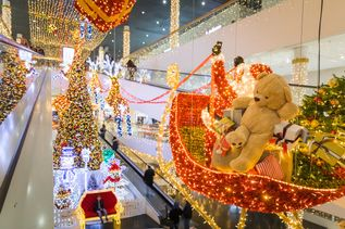 Illumination in der Shopping Arena