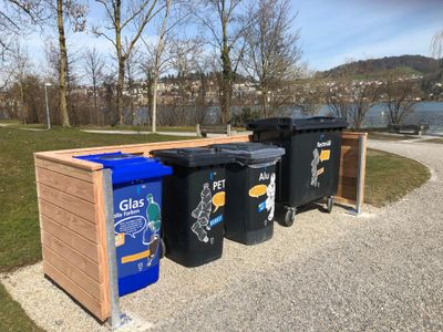 Foto neue Recyclingstation
