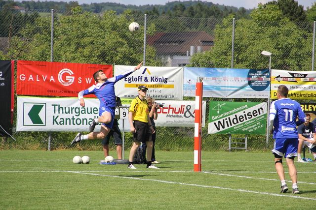 Archivbild: z.V.g. Die Wigoltinger Faustballer spielen am Wochenende am Faustball World Tour Finale in Salzburg.